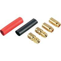 Banánkový konektor zástrčka, rovná, zásuvka, rovná Ø pin: 6 mm červená, černá Schnepp DS 6 1 ks