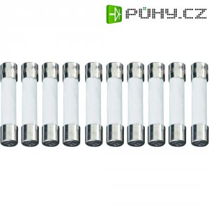 Jemná pojistka ESKA pomalá 632717, 500 V, 1 A, keramická trubice s hasící látkou, 6,3 mm x 32 mm, 10 ks