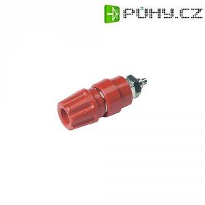 Pólová svorka SKS Hirschmann PKNI 10 B (930136101), (Ø x d) 17 x 52 mm, červená