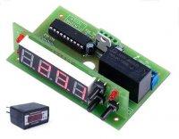 Digitální termostat -30 až 125°C + čidlo s kabelem 5m, stavebnice