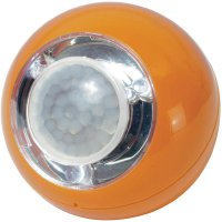 Přenosné LED světlo koule s PIR čidlem GEV, 3x LED, oranžová (00742)