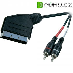 Adaptér s kabelem SCART/2 Cinch, 2 m
