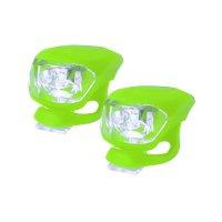 Svítilna na kolo silikonová sada - zelená