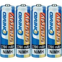 Akumulátor Conrad energy, NiMH , AA, 2700 mAh, 4 ks