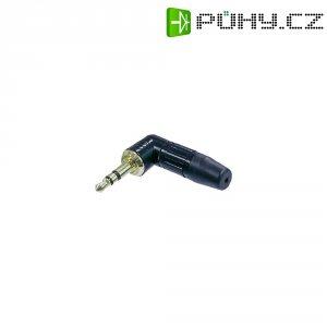 Jack konektor 3,5 mm stereo Neutrik NTP3RC-B, zástrčka úhlová, 2 - 4,5 mm, 3pól., černá