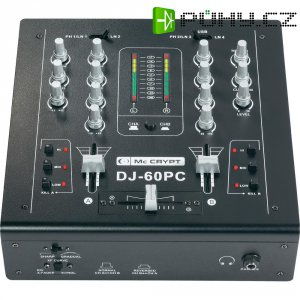 DJ mixážní pult Mc Crypt DJ-60 -PC USB Black-Edition