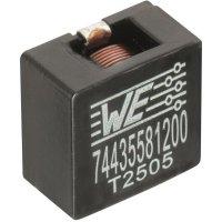 SMD vysokoproudá cívka Würth Elektronik HCI 74435584700, 47 µH, 0,375 A, 2212