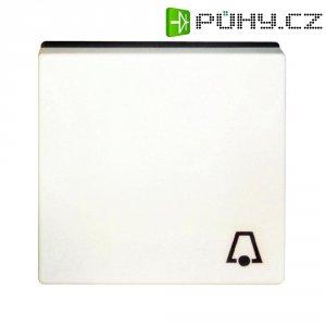 Krytka vypínače se symbolem zvonku Jung, A590KWW, bílá