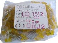 LED 2,5x5mm žlutá difuzní LQ1512, balení 200ks