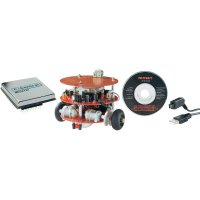 Stavebnice robota + programovací jednotka + USB kabel, C-Control PRO-BOT128, sada