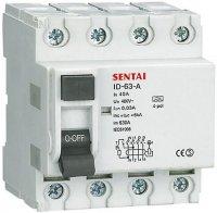 Chránič ID 400V/40A-30mA 3fázový na DIN lištu