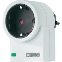 Mezizásuvka s přepěťovou ochranou Phoenix Contact 2882213 MNT-1D/WH , 4 kV, 3600 W, bílá