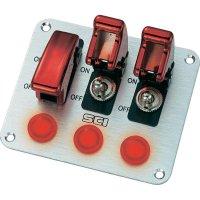 Ovládací panel pro auta SCI R18-P3A, 12 V/DC, 20 A, s aretací, 1 ks