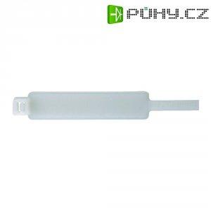 Stahovací pásek se štítkem HellermannTyton IT50L-PA66-NA-C, 390 x 56 x 12.8 mm, přírodní