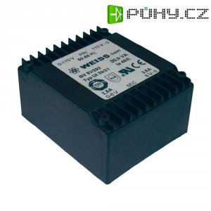Plochý transformátor Weiss UI 39, 2x 115 V/2x 6 V, 2x 2500 mA, 30 VA
