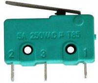 Mikrospínač ON-(ON) 1pol.250V/5A-páčka 17mm