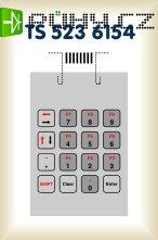 Fóliová klávesnice TS 523 6174 - 4 x 4 hmatníků