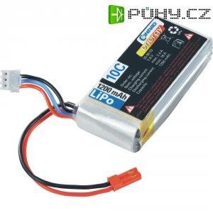 Akupack Li-Pol (modelářství) Conrad energy, 7.4 V, 1200 mAh, 10 C, BEC