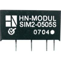 DC/DC měnič HN Power SIM2-1512D-SIL7, vstup 15 V, výstup ± 12 V, ± 82 mA