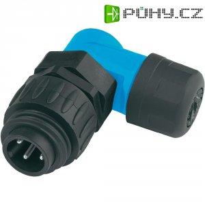 Kabelový konektor 6+PE Amphenol C016 10K006 000 10, černá/modrá, úhlový