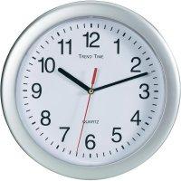 Analogové nástěnné hodiny, EuroTime Quarz, 22222, Ø 25 cm, stříbrná