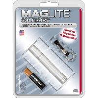 Kapesní svítilna Mag-Lite Solitaire, K3A106, 1,5 V, kryptonová, stříbrná