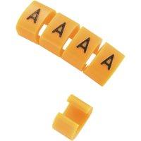 Označovací klip na kabely KSS MB1/Q 28530c608, Q, oranžová, 10 ks