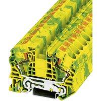 Svorka Push-in Phoenix Contact PT 16 N-PE (3212147), s ochran. vodičem, 12,2 mm, zel/žlut