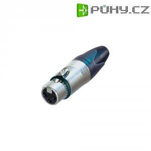 XLR kabelová zásuvka Neutrik NC3FXX-EMC, rovná, 3pól., 4 - 7 mm, stříbrná