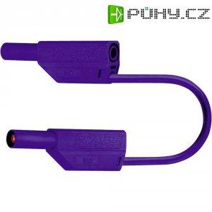 Měřicí kabel banánek 4 mm ⇔ banánek 4 mm MultiContact SLK425-E, 0,25 m, modrá