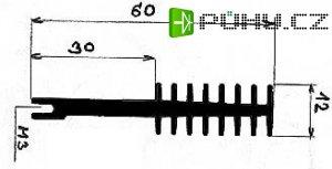 Chladič Al ZH4611 60x12x50mm