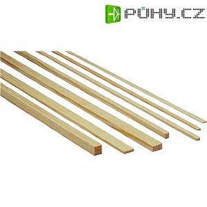 Lišta z borového dřeva, 1000 x 2 x 2 mm, 10 ks