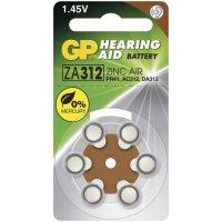 Baterie ZA312-GP do naslouchadel 1,45V , bal.6ks /PR41, AC312, DA312/