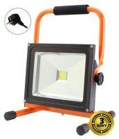 LED venkovní reflektor se stojanem, 50W, 3500lm, kabel se zástrčkou, AC 230V SOLIGHT WM-50W-ES