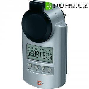 Spínací zásuvka s časovačem Brennenstuhl, 1507490, 3680 W, IP44, digitální, týdenní