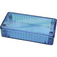 Transparentní pouzdro z polykarbonátu Hammond Electronics, (d x š x v) 100 x 50 x 25 mm, modrá (1591 ATBU)
