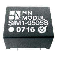 DC/DC měnič HN Power SIM1-1505D-DIL8, vstup 15 V, výstup ± 5 V, ± 100 mA, 1 W