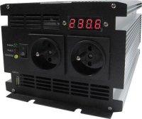 Měnič 12V/230V+UPS 1000W,čistá sinusovka, JYINS, vadná nabíječka.