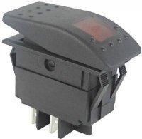 Vypínač kolébkový RK1-06 ON-OFF 2p.12V/30A červený