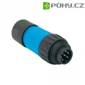 Kabelový konektor 6+PE Amphenol C016 10H006 010 10, 250 V, 10 A, černá/modrá