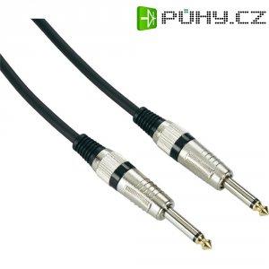 Instrumentální kabel JACK 6,3 mm Paccs, 6 m, černá