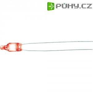 Doutnavka, 1,5 mA, ultra svítivá, 230 V, 5 x 12mm, orientální červená