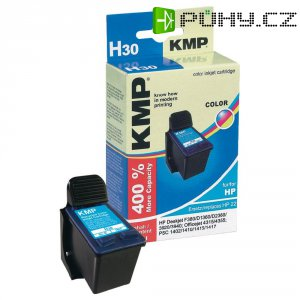 Cartridge KMP HP 22 = H30, 1901,4220, cyanová/magenta/žlutá