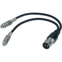 Dvojitý kabel 2x cinch (F) / 1x XLR (M), 0,6 m