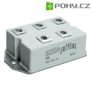 Můstkový usměrňovač 3fázový Semikron SKD210/16, U(RRM) 1600 V, Semipont® 4
