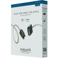 Redukce Apple iPod/iPhone/iPad ⇒ USB konektor, 1 m, Inakustik