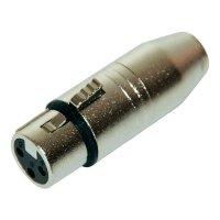 Adaptér Paccs 96150056 [1x XLR zásuvka - 1x mini XLR zástrčka], stříbrná
