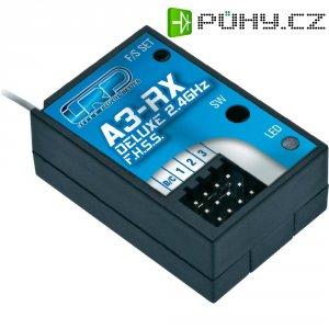 Přijímač LRP Electronic A3-RX DeLuxe, 2,4 GHz FHSS, 3 kan., Graupner/JR/Futaba