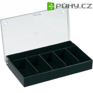 Zásobník na součástky (krabička) - 6 přihrádek, 164 x 31 x 101 mm