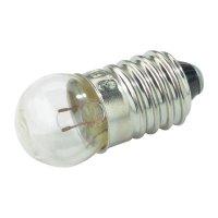 Kulatá žárovka Barthelme, 3,8 V, 1,1 W, 300 mA, E10, čirá